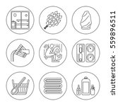 set of editable stroke vector... | Shutterstock .eps vector #559896511