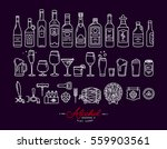 set of alcohol icons in flat... | Shutterstock .eps vector #559903561