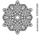 vector henna tatoo mandala.... | Shutterstock .eps vector #559907689