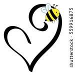 love heart bee | Shutterstock .eps vector #559916875