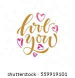 hand sketched i love you text... | Shutterstock .eps vector #559919101