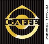 gaffe gold emblem or badge | Shutterstock .eps vector #559920265