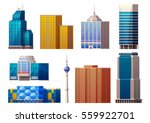 colorful modern buildings set... | Shutterstock .eps vector #559922701
