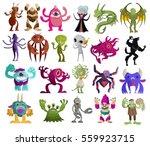 evil cute tiny monsters pack | Shutterstock .eps vector #559923715