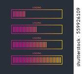 loading bar icon.creative web...   Shutterstock .eps vector #559926109
