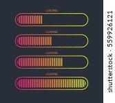 loading bar icon.creative web...   Shutterstock .eps vector #559926121