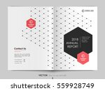 cover design annual report... | Shutterstock .eps vector #559928749