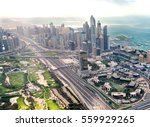 downtown dubai from the air.... | Shutterstock . vector #559929265