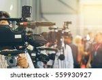 tv operators install video... | Shutterstock . vector #559930927