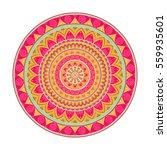 mandala. ethnic round ornament. ... | Shutterstock .eps vector #559935601