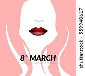 happy women's day graphic... | Shutterstock .eps vector #559940617
