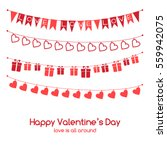 valentine's day vector greeting ... | Shutterstock .eps vector #559942075