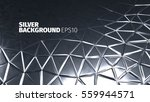 Steel Background. Vector Silve...