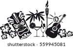 banner for luau party with... | Shutterstock .eps vector #559945081