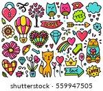 doodles cute elements. color... | Shutterstock .eps vector #559947505