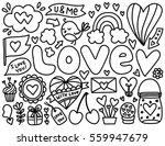 doodles cute elements. black... | Shutterstock .eps vector #559947679