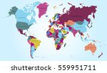 world map countries vector on... | Shutterstock .eps vector #559951711