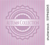 autumn collection badge with... | Shutterstock .eps vector #559960045