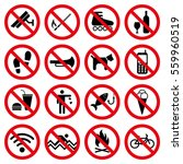 Prohibit Signs Symbols Set