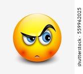 cute curious emoticon  emoji  ...   Shutterstock .eps vector #559962025