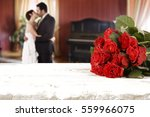 roses and interior  of home  | Shutterstock . vector #559966075