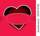 vector valentines day vector... | Shutterstock .eps vector #559974781