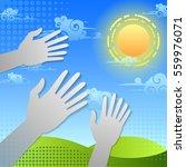 vector landscape with sky ...   Shutterstock .eps vector #559976071