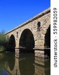 Small photo of 1st Century, Vila Formosa Roman bridge. Built over the Seda River, on the Roman road which linked Lisbon and Merida - the ancient capital of Lusitania. Alter do Chao, Portalegre, Alentejo, Portugal.