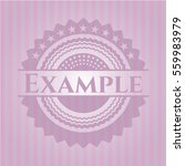 example badge with pink... | Shutterstock .eps vector #559983979