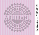 aberrant badge with pink... | Shutterstock .eps vector #559987981