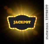 jackpot retro banner. vector... | Shutterstock .eps vector #559988599