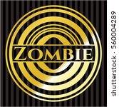zombie gold badge or emblem | Shutterstock .eps vector #560004289