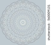 mandala  round vector...   Shutterstock .eps vector #560009131