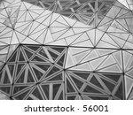 black and white geometric... | Shutterstock . vector #56001
