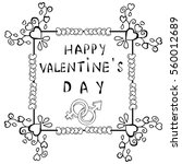 happy valentine's day... | Shutterstock .eps vector #560012689