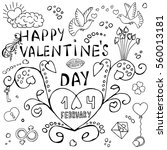 happy valentine's day... | Shutterstock .eps vector #560013181