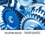 engine gears wheels  closeup... | Shutterstock . vector #560016451