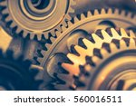 engine gears wheels  closeup... | Shutterstock . vector #560016511