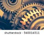 engine gears wheels  closeup... | Shutterstock . vector #560016511