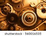 engine gears wheels  closeup...   Shutterstock . vector #560016535