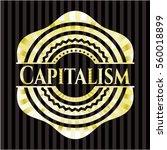 capitalism gold badge or emblem | Shutterstock .eps vector #560018899