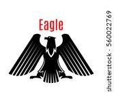 black heraldic eagle  falcon or ... | Shutterstock .eps vector #560022769