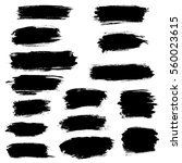vector black paint brush spots  ... | Shutterstock .eps vector #560023615