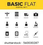 basic set of blood bag ... | Shutterstock .eps vector #560030287