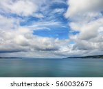 dramatic sky with clouds in... | Shutterstock . vector #560032675