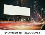 white blank billboard on light... | Shutterstock . vector #560036965