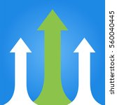 arrows business growth. vector... | Shutterstock .eps vector #560040445
