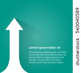 arrows business growth. vector...   Shutterstock .eps vector #560040589