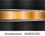 abstract gold silver banner on... | Shutterstock .eps vector #560042581