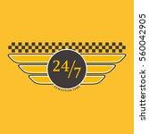 taxi badge vector illustration. | Shutterstock .eps vector #560042905